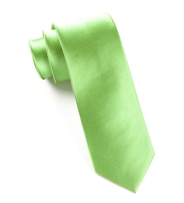 Solid Satin Apple Green Tie