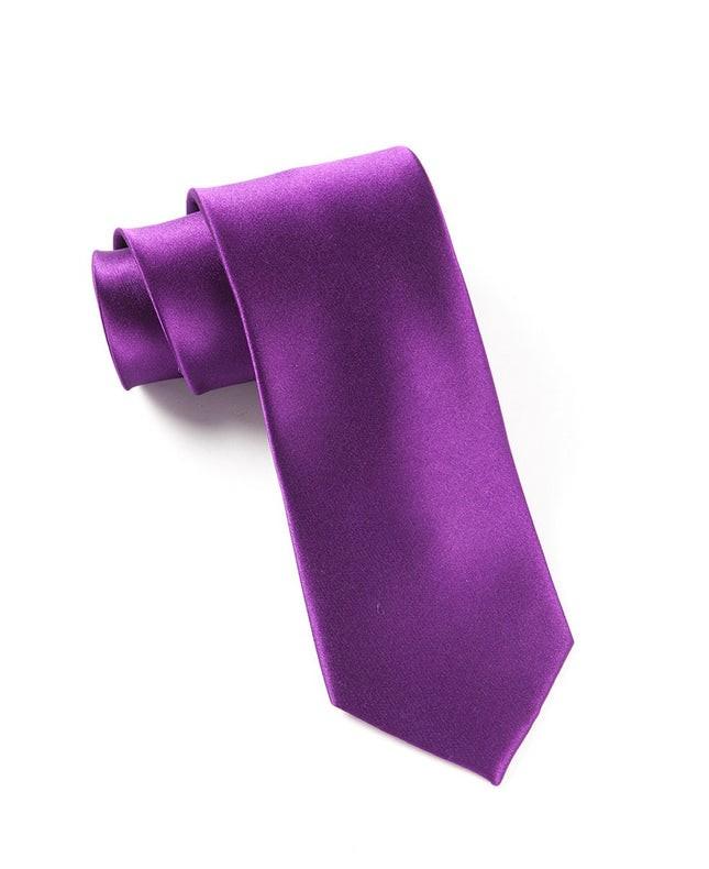 Solid Satin Plum Tie