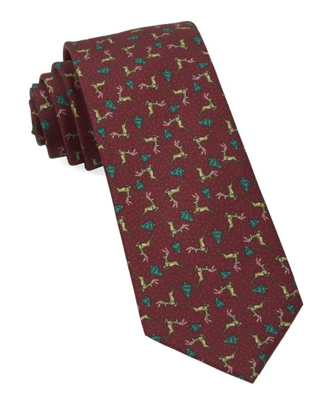 Christmas Fleet Burgundy Tie