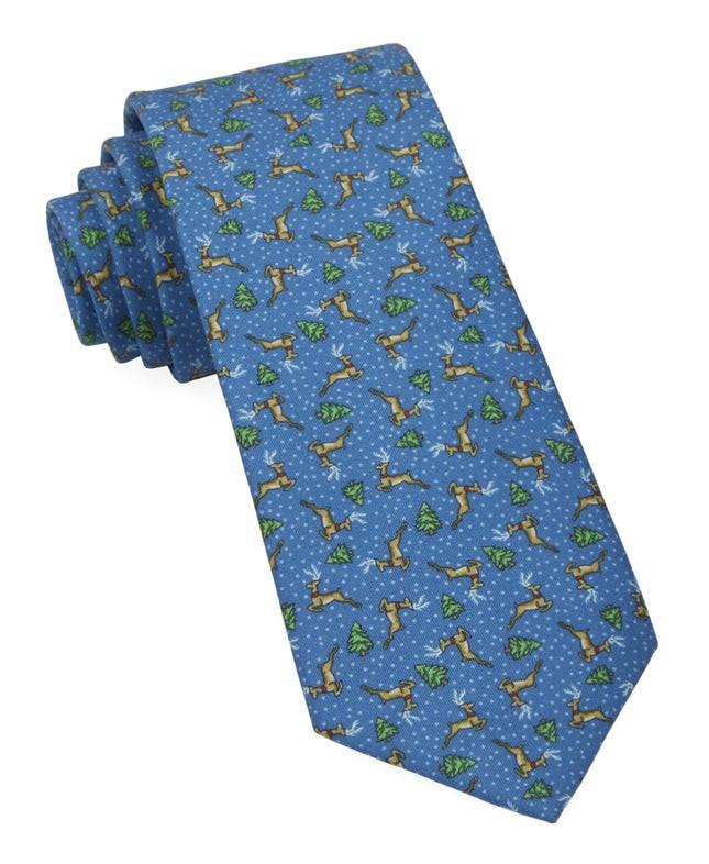 Christmas Fleet Serene Blue Tie