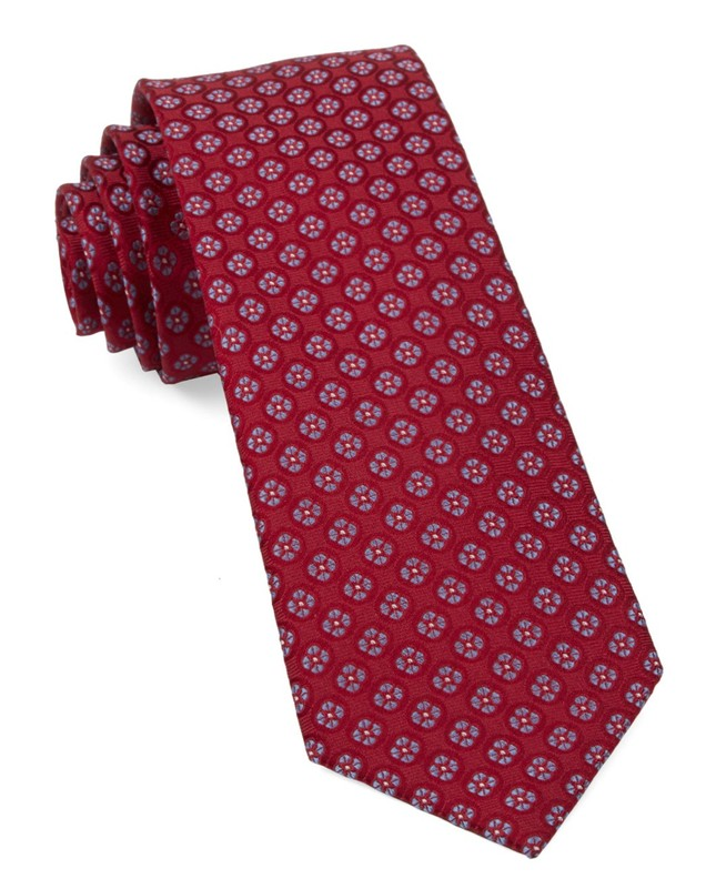 Bedrock Floral Apple Red Tie