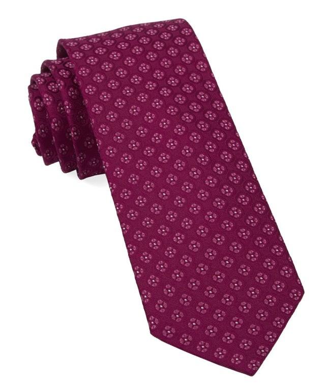 Bedrock Floral Magenta Tie
