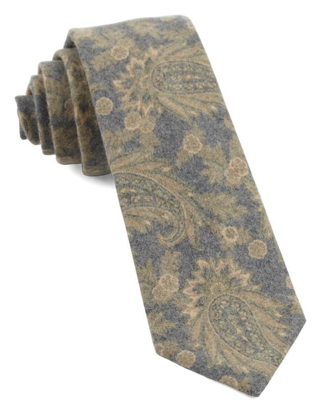 Beacon Street Paisley Mustard Tie