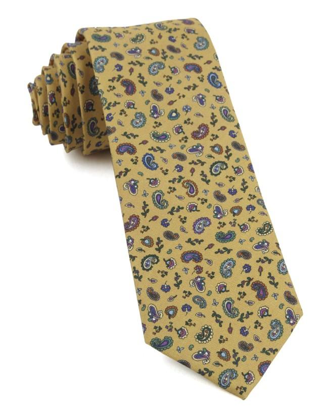 Barber Paisley Mustard Tie