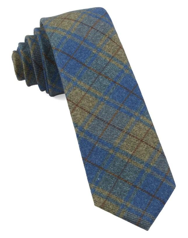 Merchants Row Plaid Classic Blue Tie