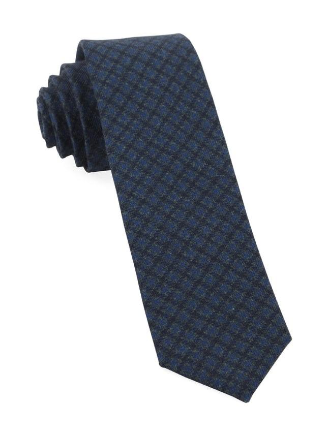 Brookline Street Houndstooth Navy Tie