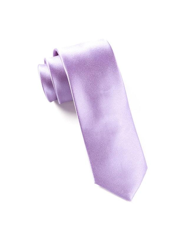 Solid Satin Lavender Tie