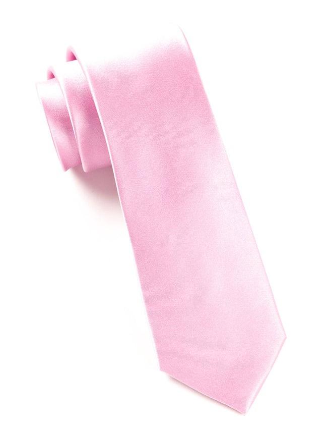 Solid Satin Baby Pink Tie