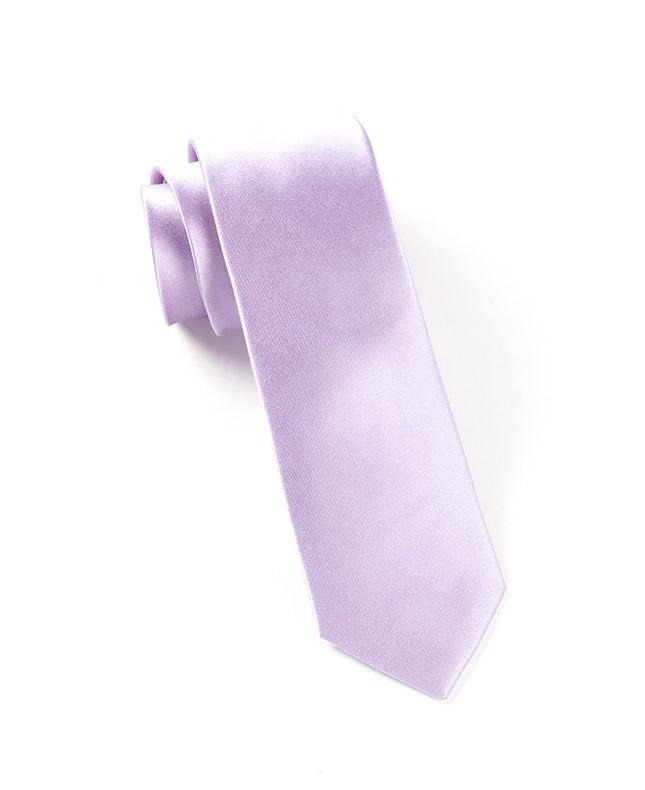 Solid Satin Lilac Tie