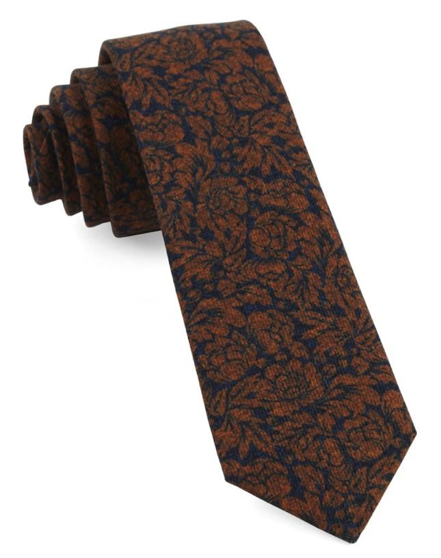 Kingsley Floral Orange Tie