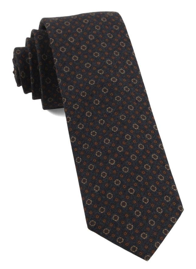 Webster Medallions Burnt Orange Tie