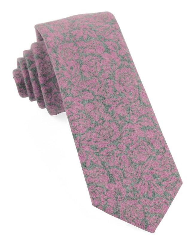Sherwood Floral Wild Pink Tie