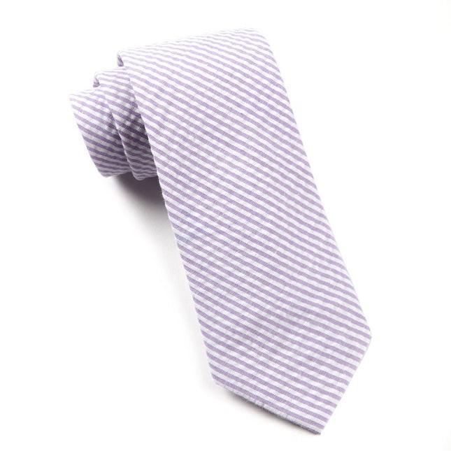 Seersucker Soft Lavender Tie