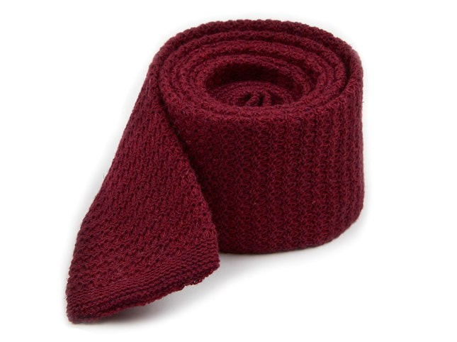 Knitted Soul Solid Burgundy Tie