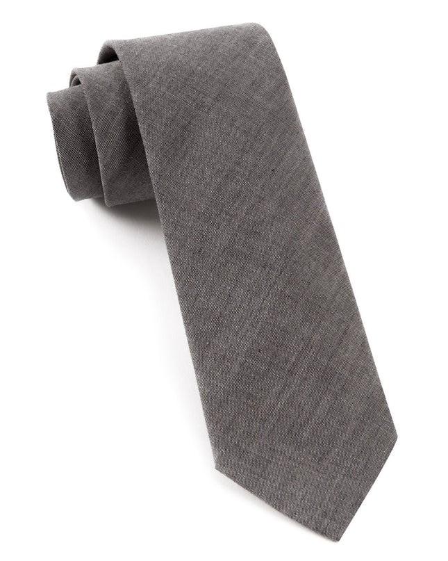 Classic Chambray Warm Grey Tie