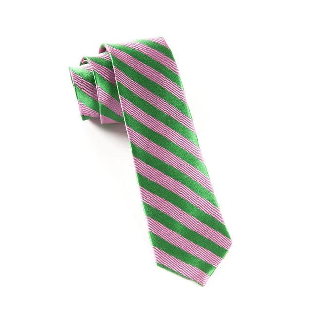 Twill Stripe Pink Tie