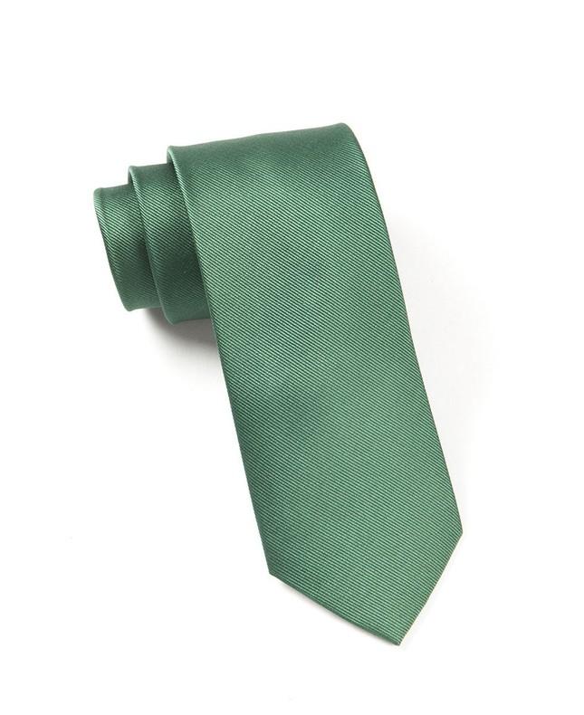 Grosgrain Solid Hookers Green Tie