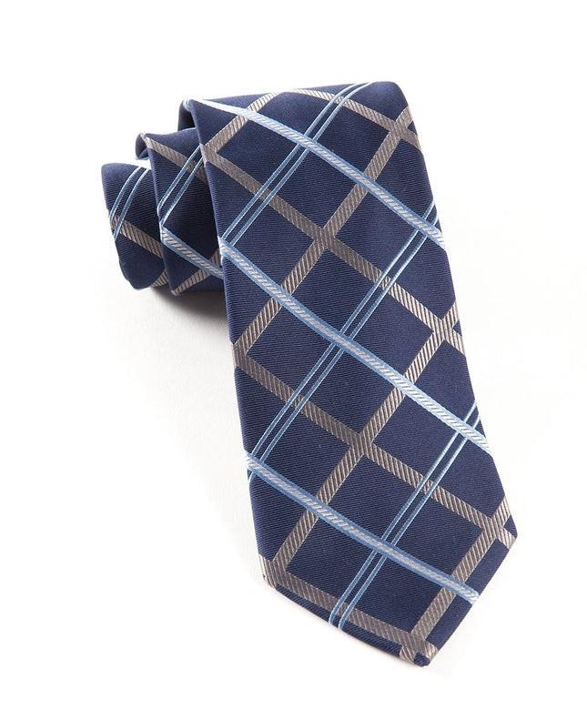 Millburn Plaid Navy Tie