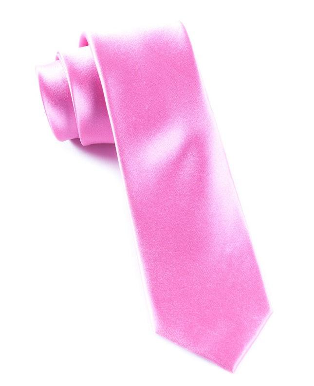 Solid Satin Wild Pink Tie