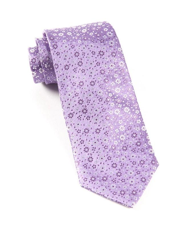 Milligan Flowers Lavender Tie