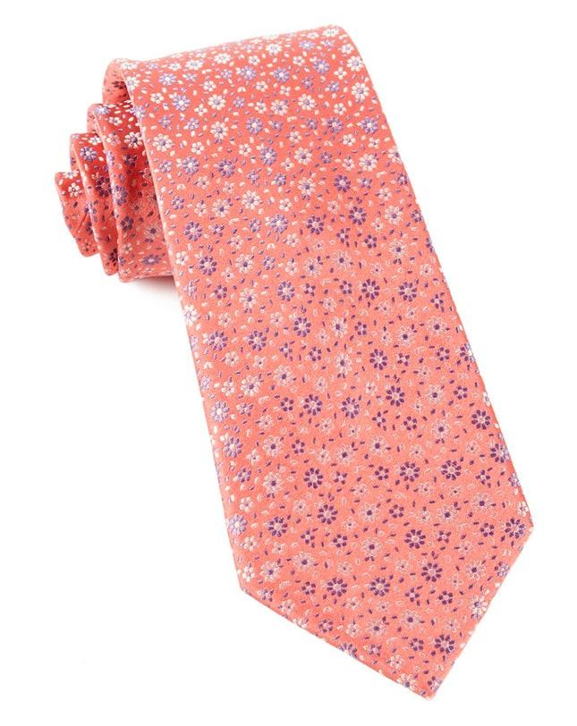 Milligan Flowers Coral Tie