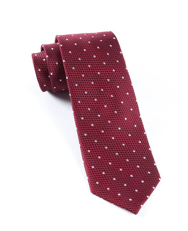 Grenafaux Dots Burgundy Tie