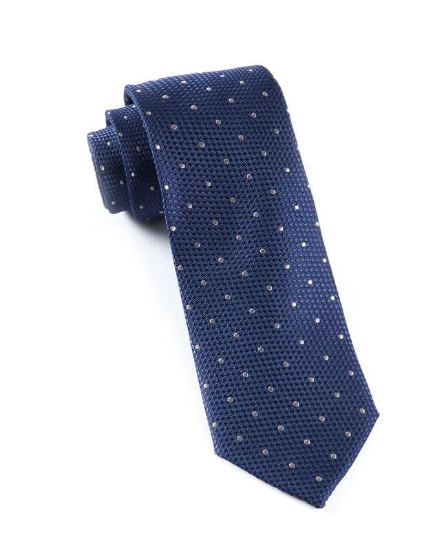 Grenafaux Dots Navy Tie