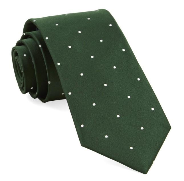 Satin Dot Hunter Tie