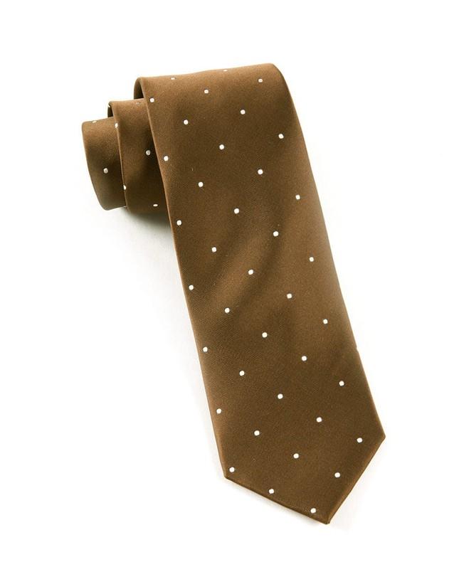 Satin Dot Chocolate Tie