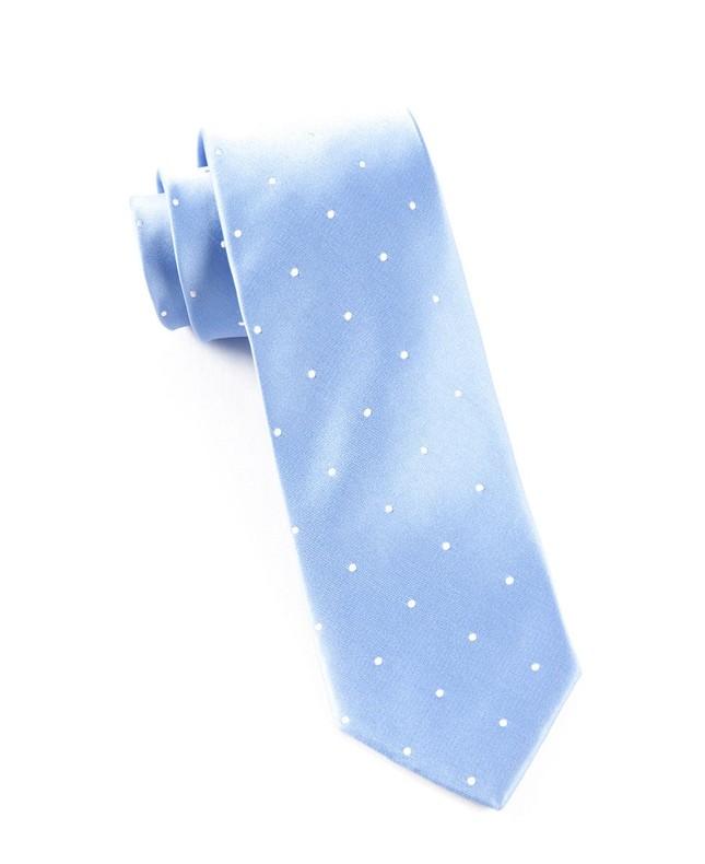 Satin Dot Light Cornflower Tie