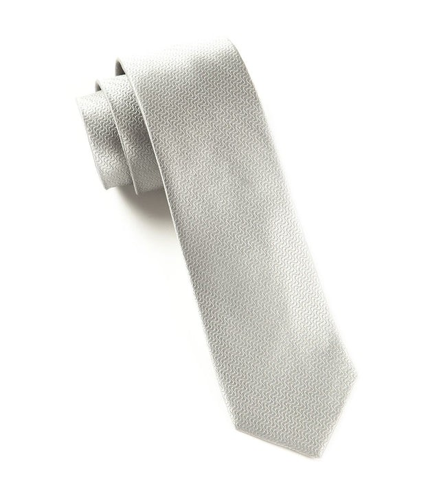 Static Solid Silver Tie