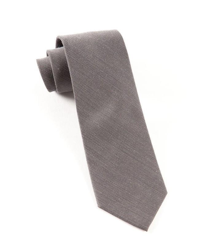 Downtown Solid Grey Tie