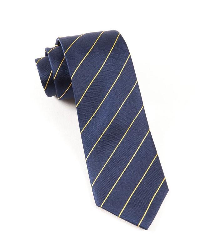 Pencil Pinstripe Navy Tie