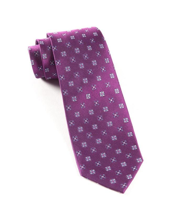 Juneberry Plum Tie
