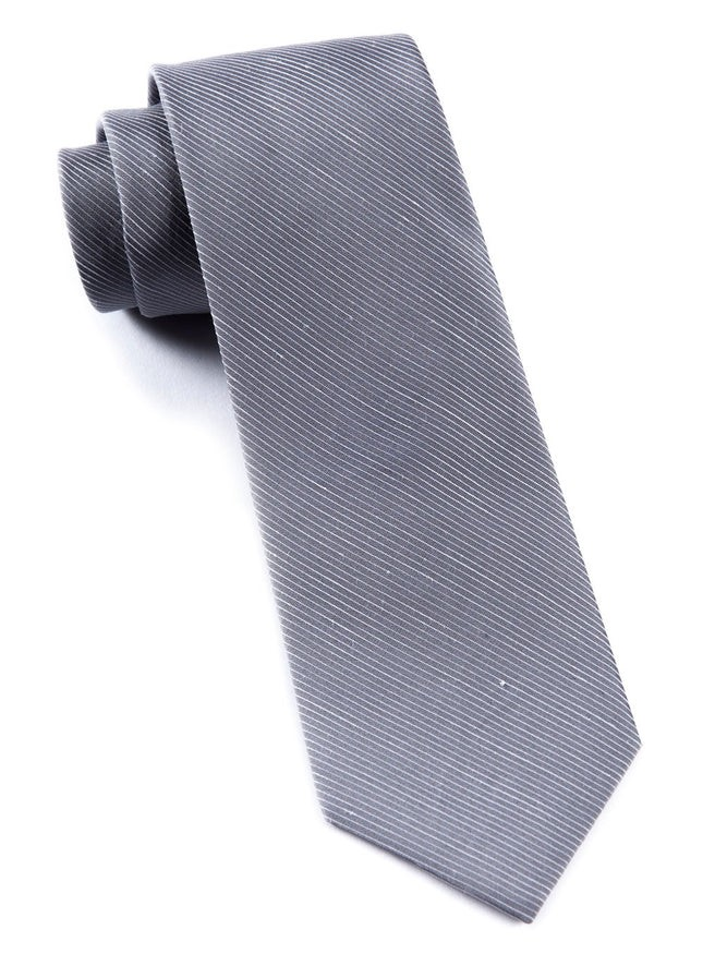 Fountain Solid Silver Tie