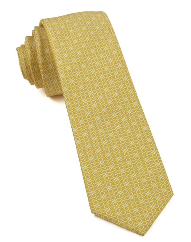 Geoflower Yellow Tie