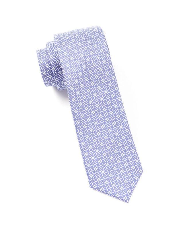 Geoflower Purple Tie
