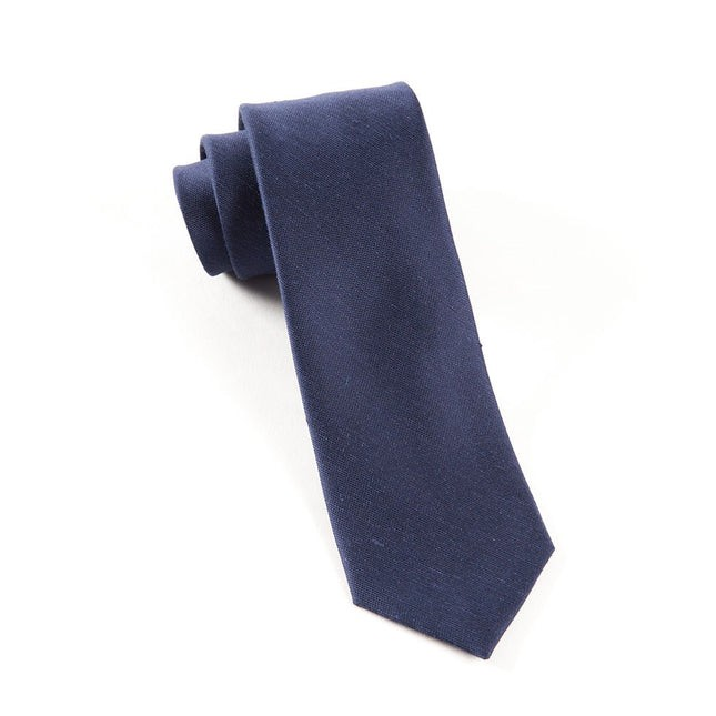 Sand Wash Solid Navy Tie
