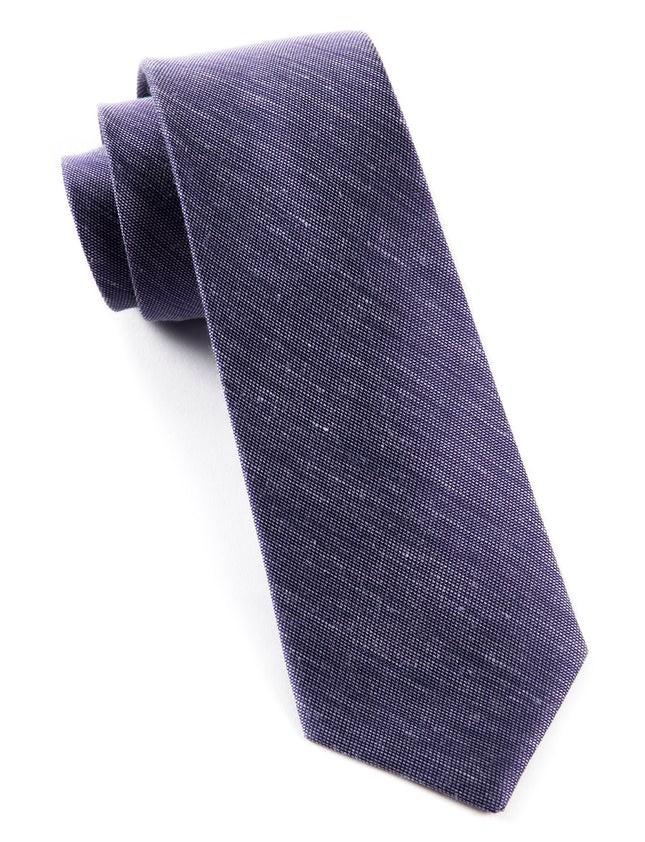 Sand Wash Solid Deep Purple Tie