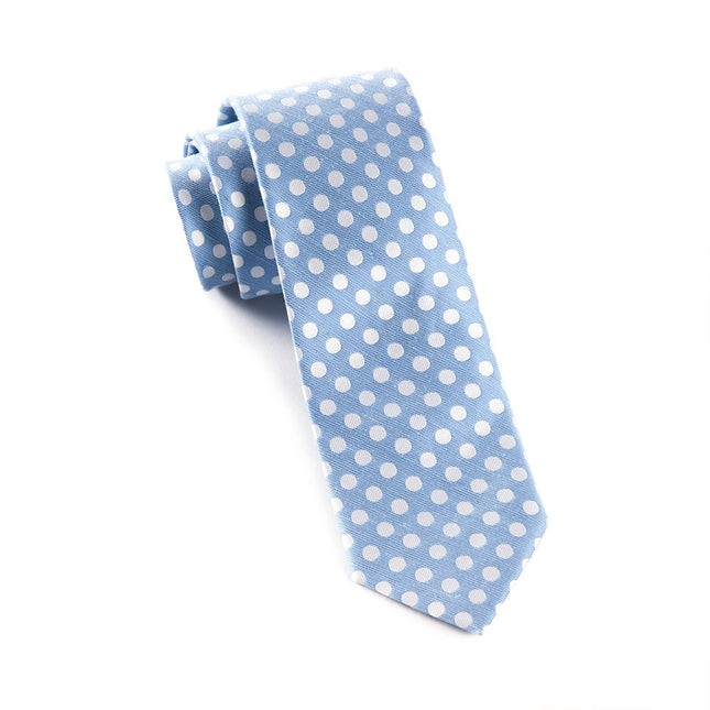 Cherry Beach Dots Light Blue Tie