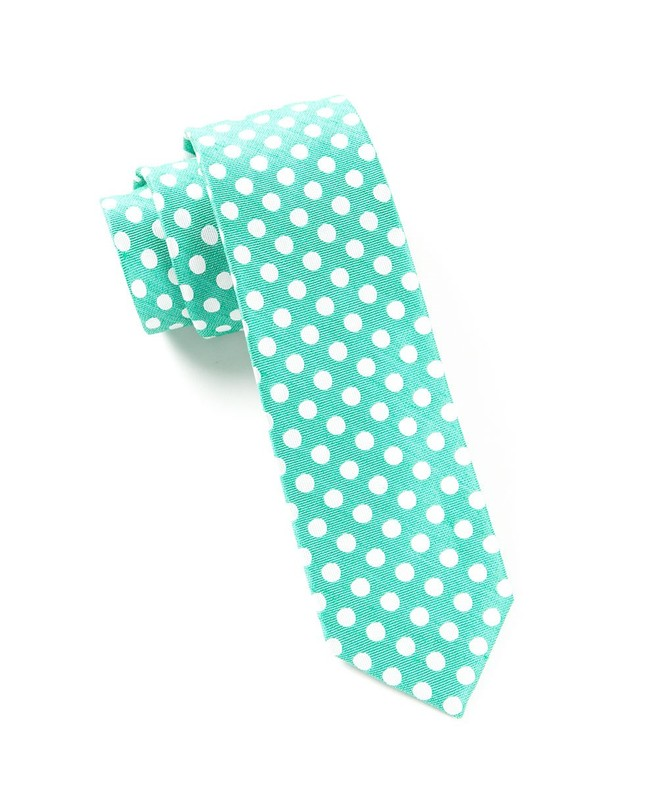 Cherry Beach Dots Mint Tie