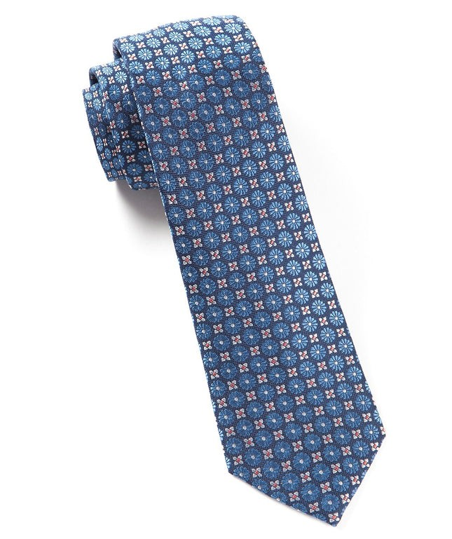 Wallflower Cornflower Blue Tie
