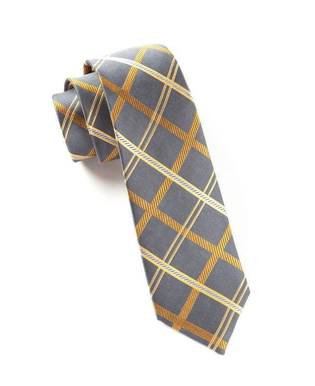 Millburn Plaid Charcoal Tie