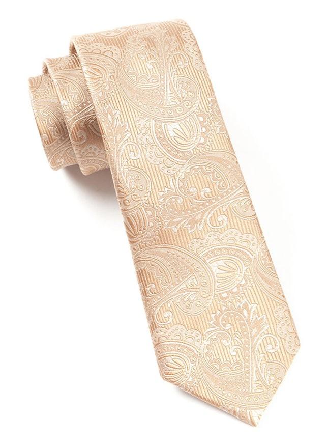 Twill Paisley Light Brown Tie