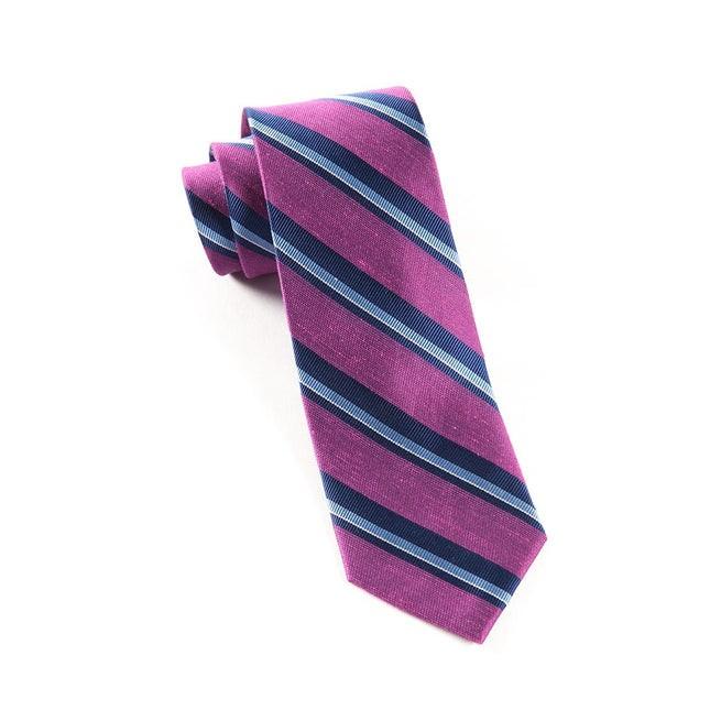 Social Stripe Azalea Tie
