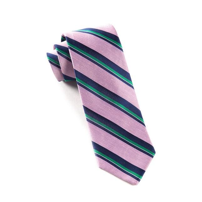 Social Stripe Baby Pink Tie