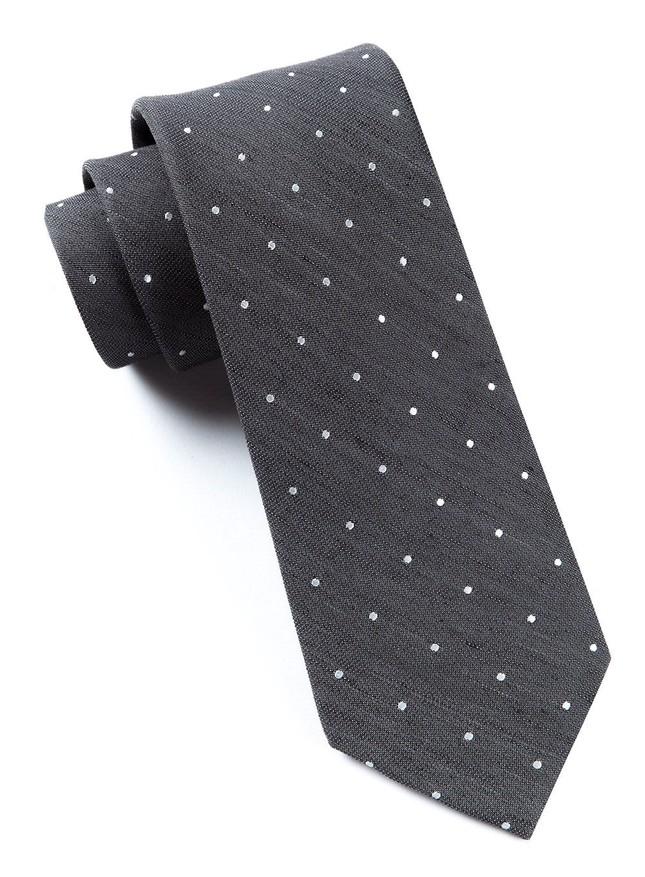 Bulletin Dot Grey Tie