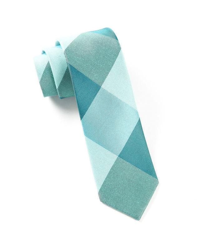 Bison Plaid Turquoise Tie
