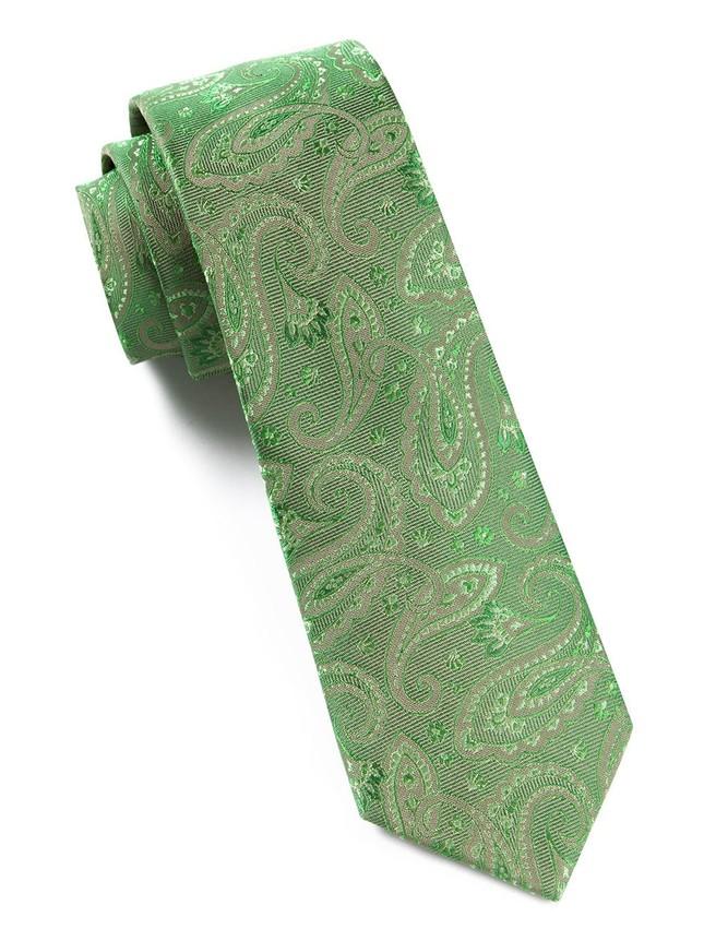 Platform Paisley Kelly Green Tie