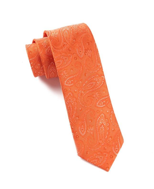 Platform Paisley Tangerine Tie